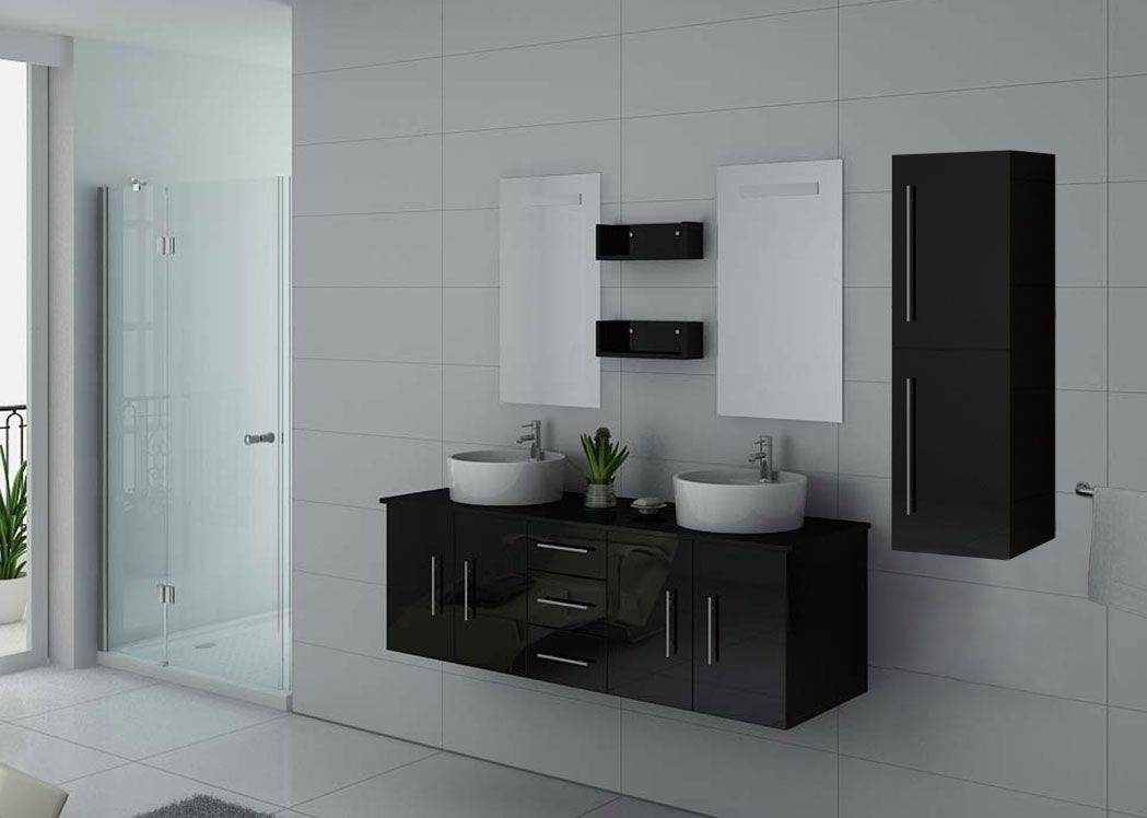 meuble de salle de bain noir meuble de salle de bain. Black Bedroom Furniture Sets. Home Design Ideas