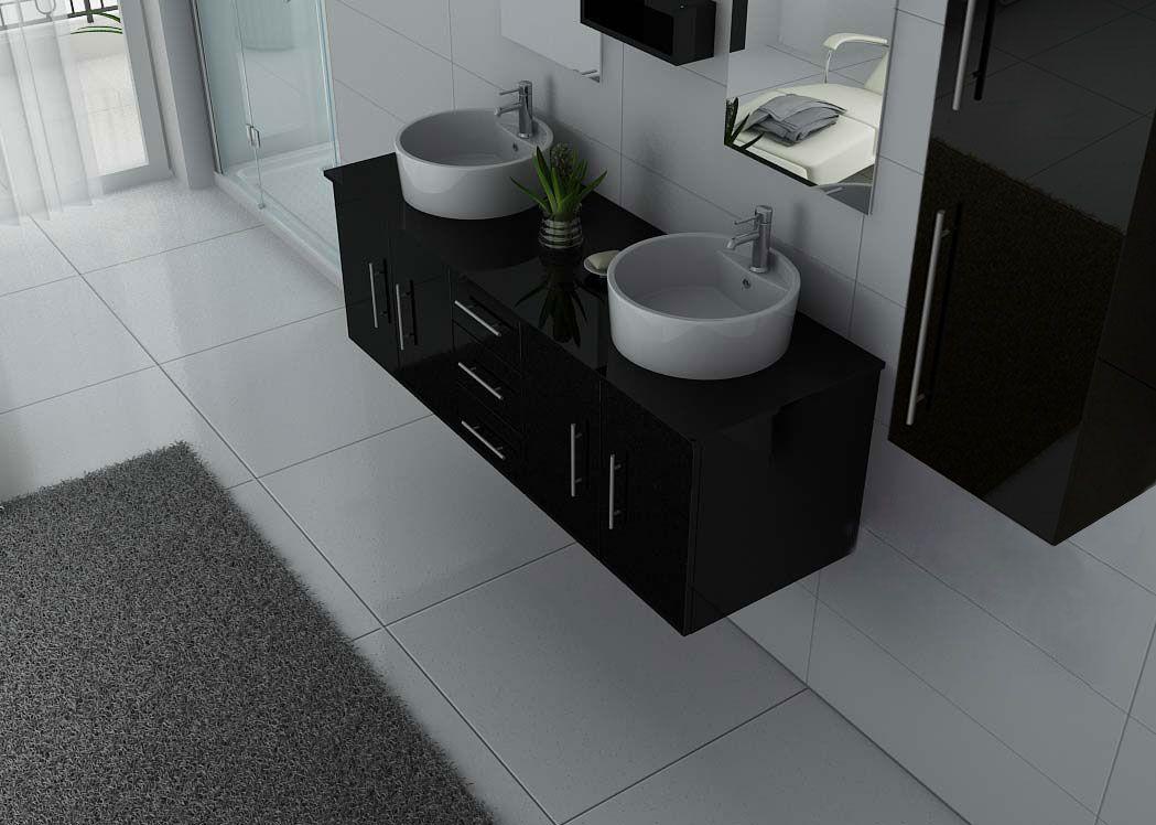meuble de salle de bain noir meuble de salle de bain pratique dis747n salledebain online. Black Bedroom Furniture Sets. Home Design Ideas