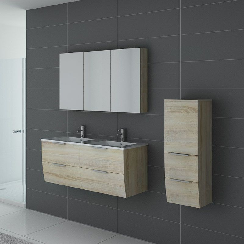 Ensemble salle de bain double vasque LIVOURNE Scandinave