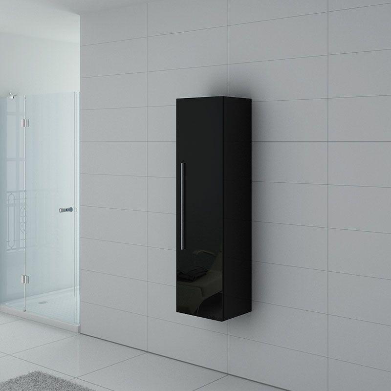 Meuble colonne PAL150N salle de bain Noir