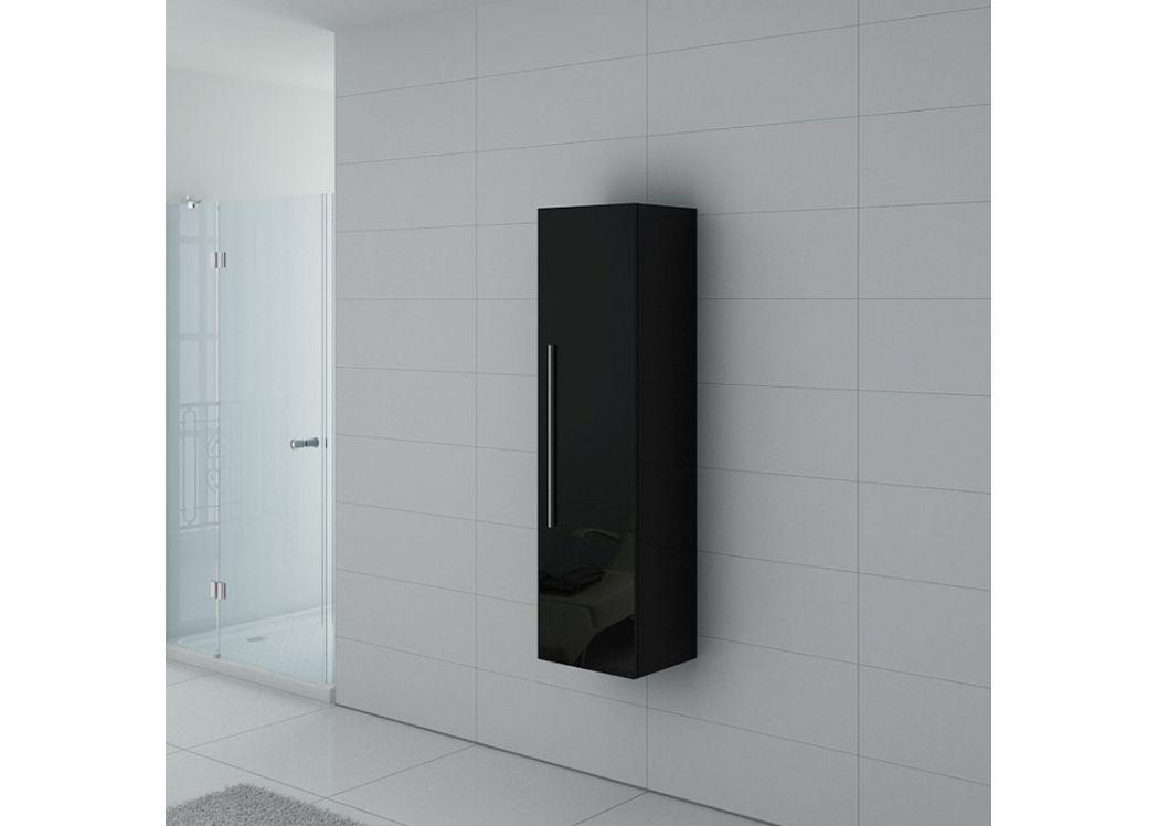 colonne de salle de bain noire laqu e meuble colonne noire colonne de rangement noire. Black Bedroom Furniture Sets. Home Design Ideas