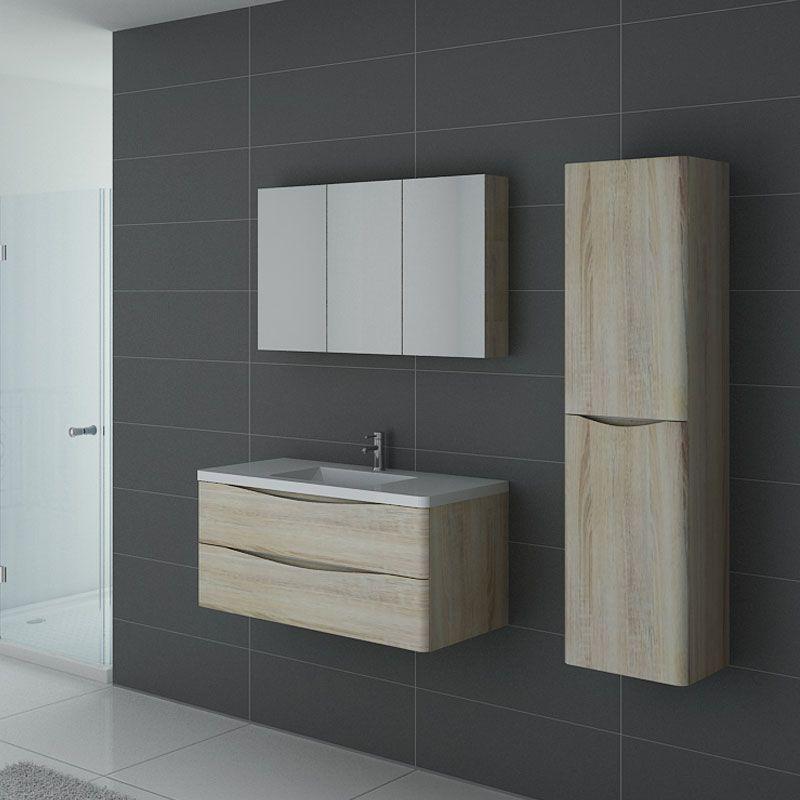 meuble simple vasque scandinave ensemble de salle de bain couleur bois ref trevise 1000 sc. Black Bedroom Furniture Sets. Home Design Ideas