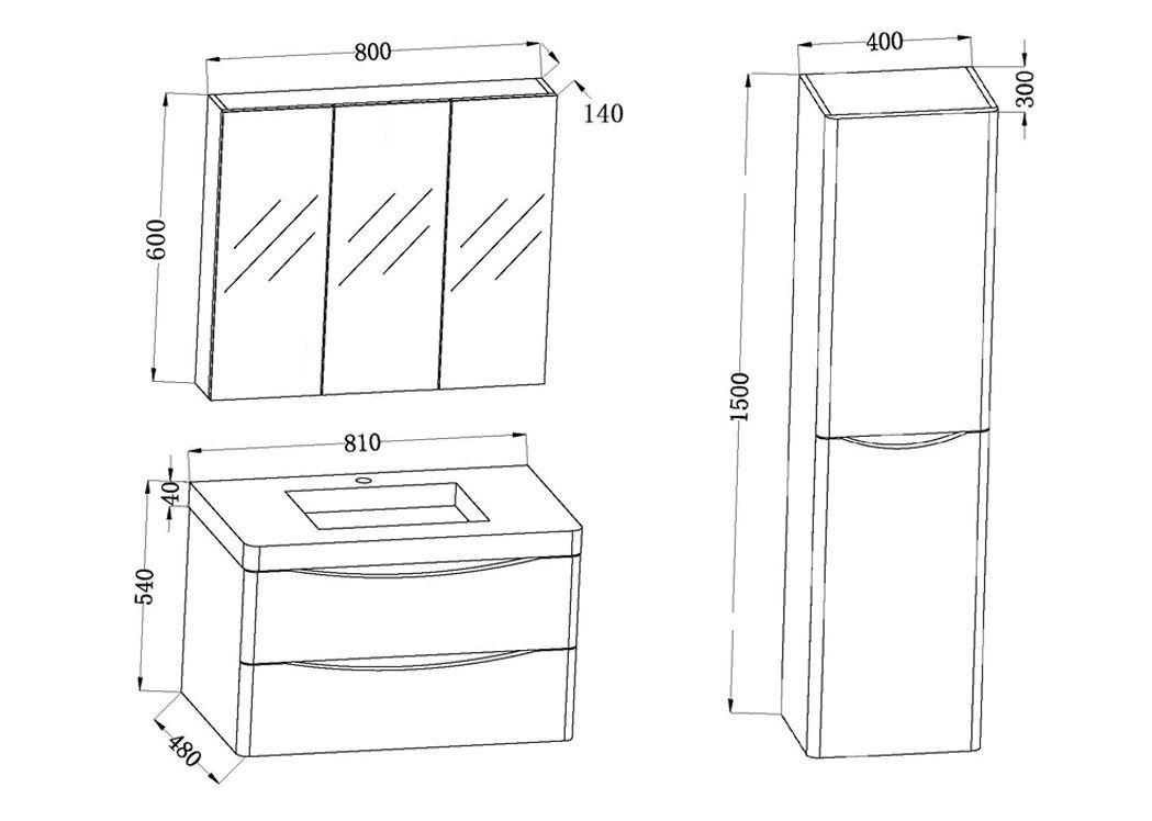 meuble 1 vasque complet blanc laqu ensemble de salle de bain couleur blanc ref trevise 800 b. Black Bedroom Furniture Sets. Home Design Ideas