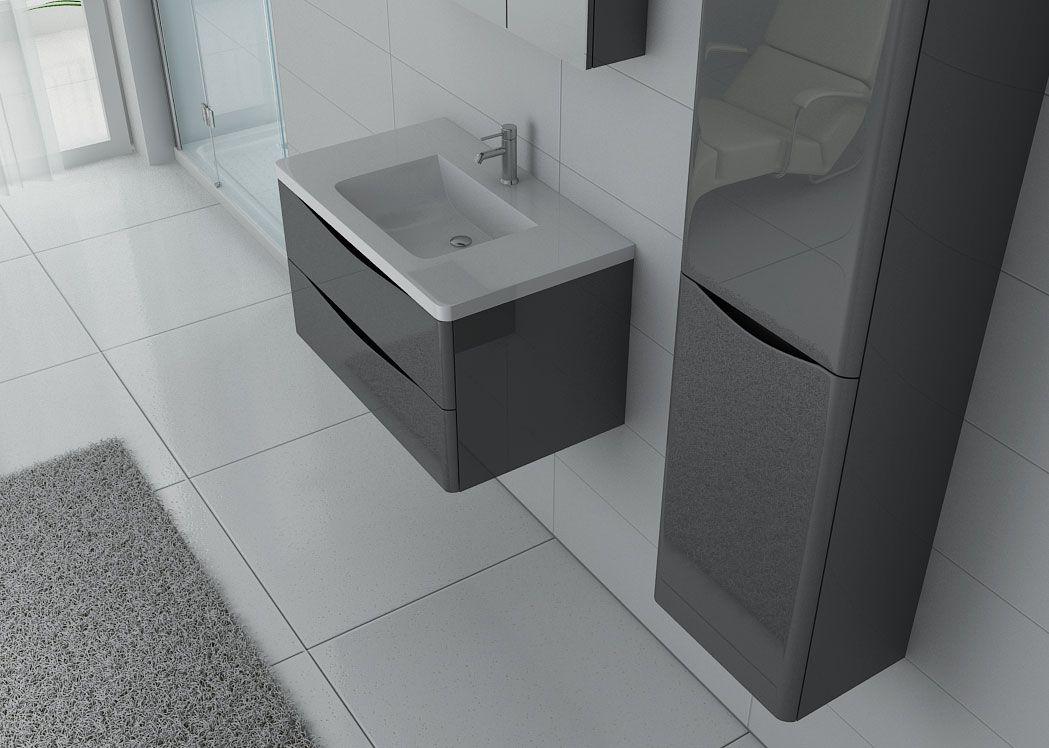 meuble 1 vasque complet gris taupe ensemble de salle de bain couleur gris ref trevise 800 gt. Black Bedroom Furniture Sets. Home Design Ideas