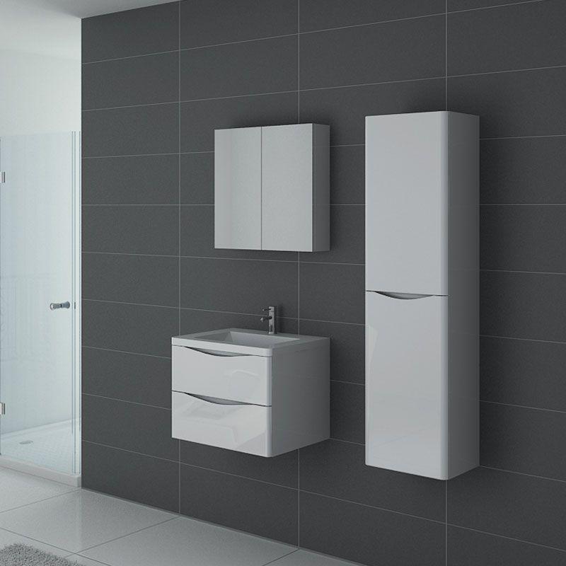 Meuble salle de bain TREVISE 600 Blanc