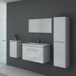 Meubles salle de bain SORRENTO B Blanc - Salledebain Online