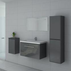 Ensemble simple vasque avec colonnes de rangement SORRENTO GT