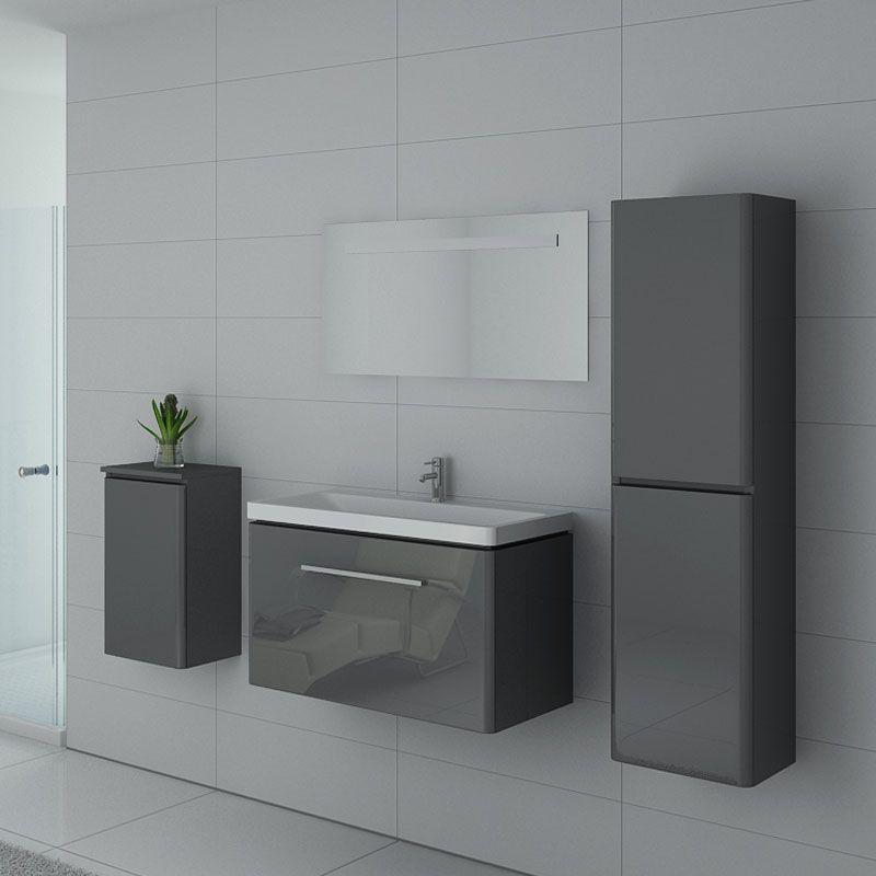 Meubles salle de bain SORRENTO GT Gris Taupe - Salledebain Online