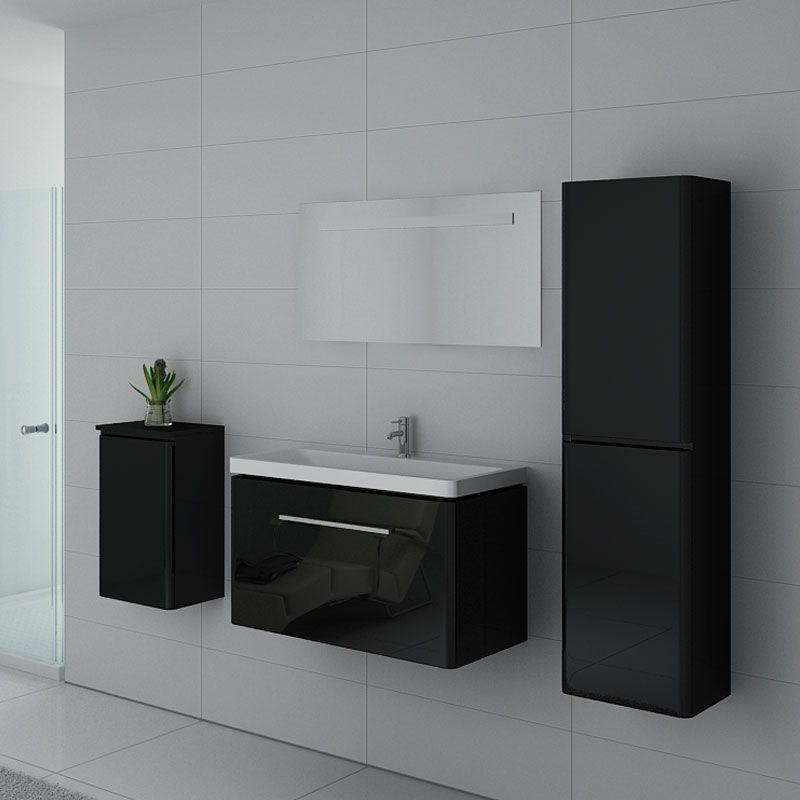 Meubles salle de bain SORRENTO N Noir - Salledebain Online