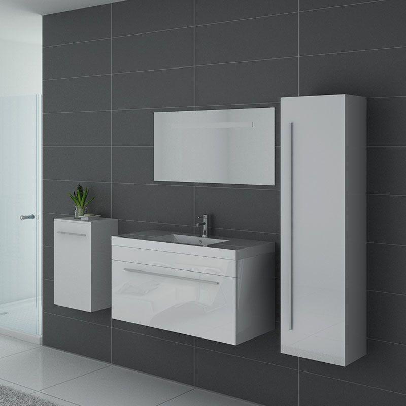 ensemble de salle de bain SANREMO B Blanc - Salledebain Online
