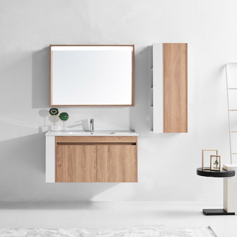 Meuble simple vasque suspendu moderne - Salledebain Online
