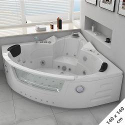 plan de la baignoire massante angulaire Maeva