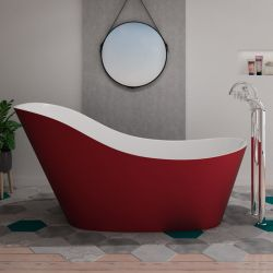 Baignoire îlot rouge tendance Avro Red