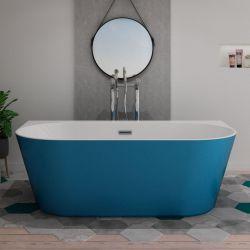 Baignoire îlot bleu design Lazzio Blue