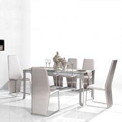 Ensemble table et chaises MELODY Gris argenté