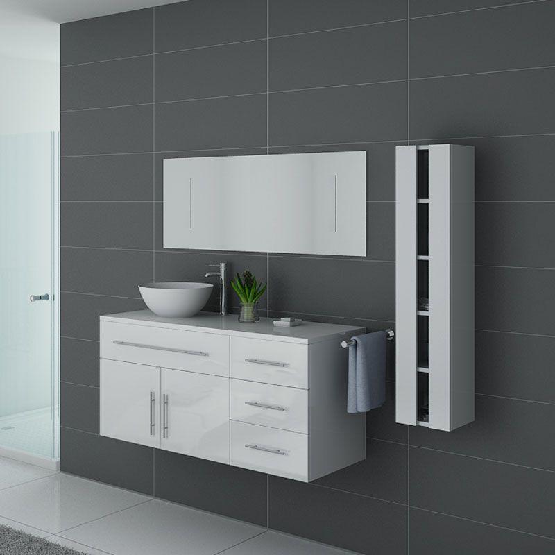 Meubles salle de bain AREZZO B Blanc - Salledebain Online