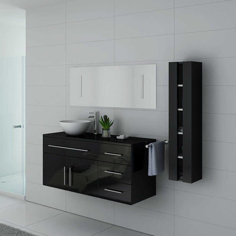 Meubles salle de bain AREZZO N Noir - Salledebain Online