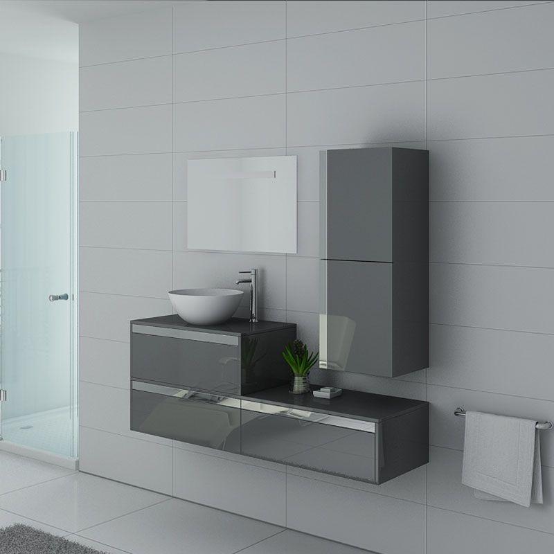 Meubles salle de bain Bolzano Gris Taupe