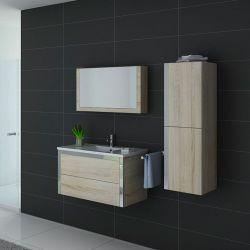 Ensemble de mobilier rouge pour sanitaires simple vasque DIS025-900SC