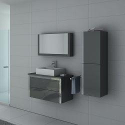 Meubles salle de bain DIS026-900GT Gris Taupe