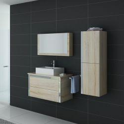 Ensemble salle de bain simple vasque DIS026-900SC Scandinave