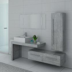Plans du meuble de salle de bain DIS9250BT Béton