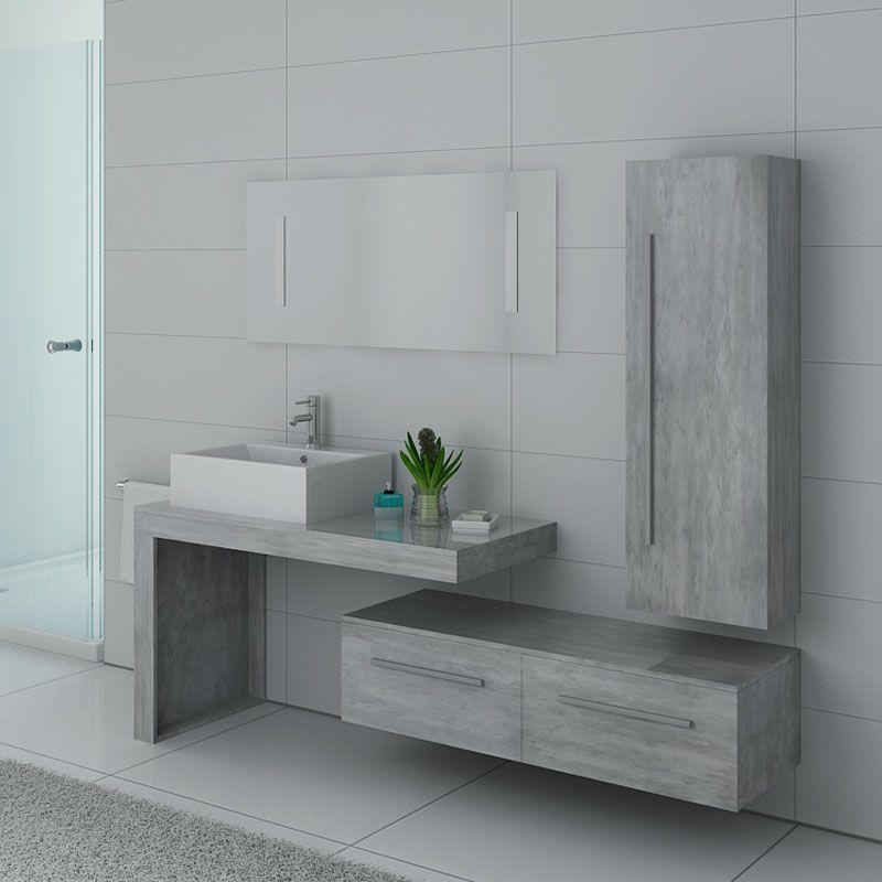 Meuble salle de bain DIS9250BT Béton
