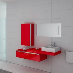 Meuble de salle de bain simple vasque DIS9550CO Coquelicot