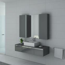 Meuble salle de bain simple vasque DIS9650GT Gris Taupe