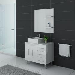 Meuble salle de bain simple vasque FLORENCE Blanc