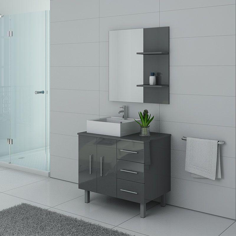 Meubles de salle de bain Gris Taupe FLORENCE
