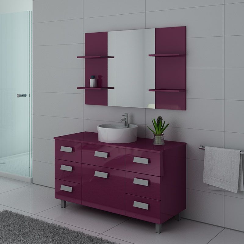 Meubles salle de bain IMPERIAL Aubergine
