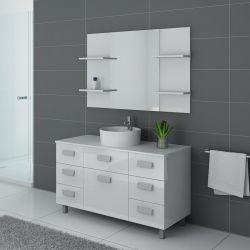 Meubles salle de bain simple vasque IMPERIAL Blanc