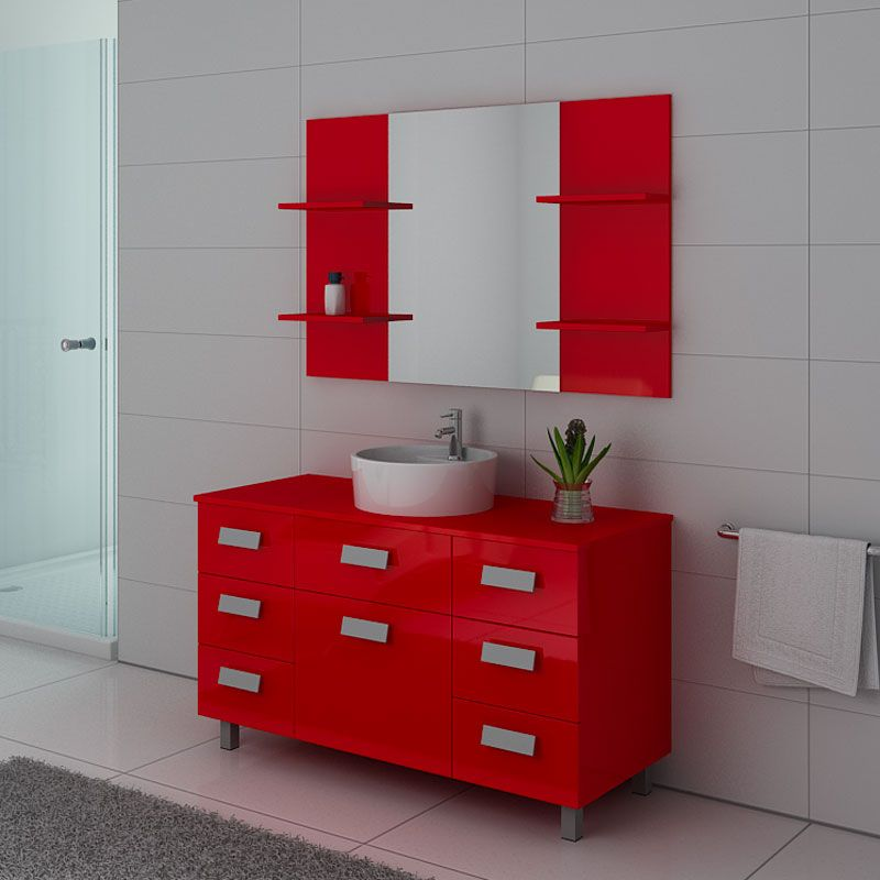 Meubles salle de bain IMPERIAL Coquelicot