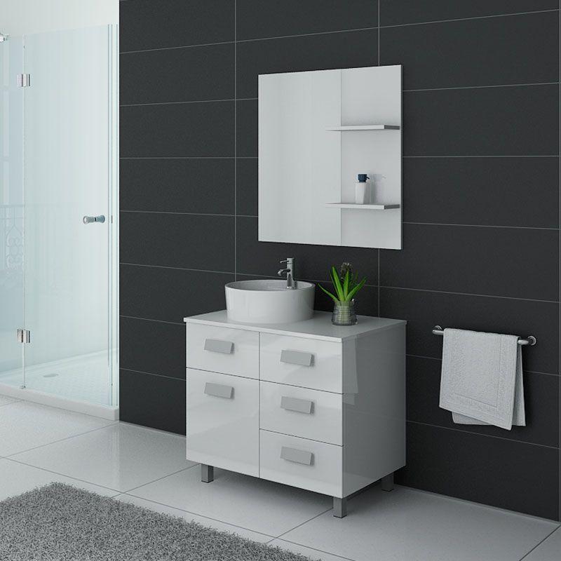Meuble salle de bain MILAN Blanc laqué