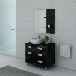 Meuble salle de bain MILAN Noir laqué