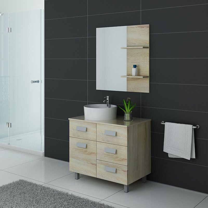 Meuble salle de bain simple vasque MILAN Scandinave