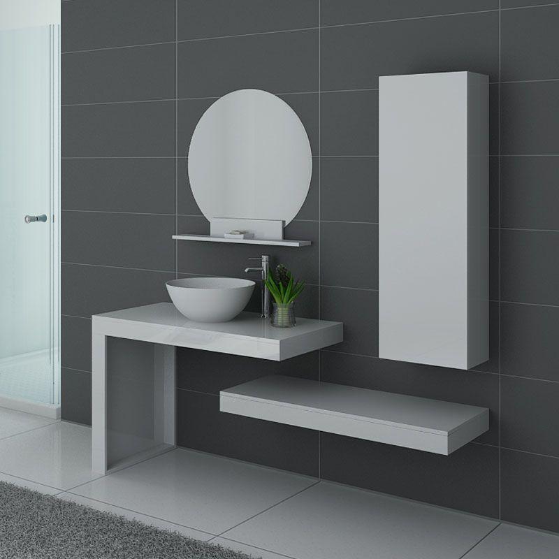 Meuble salle de bain MONZA B Blanc