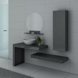 MONZA Gris Taupe meuble simple vasque