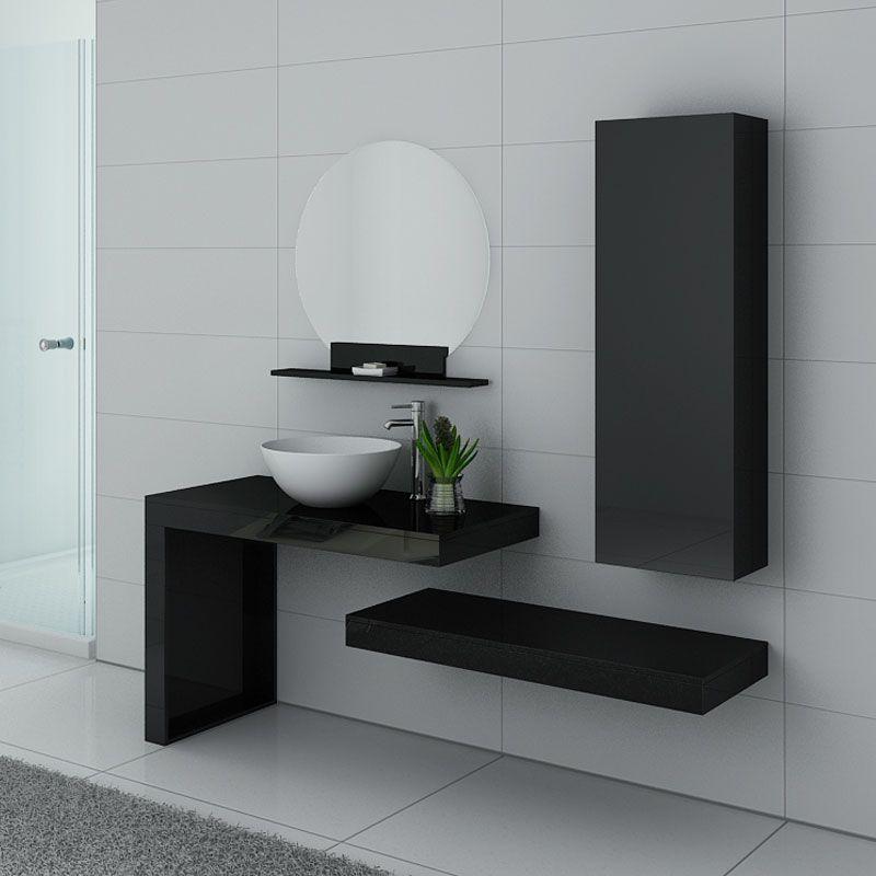 Meubles salle de bain MONZA Noir laqué