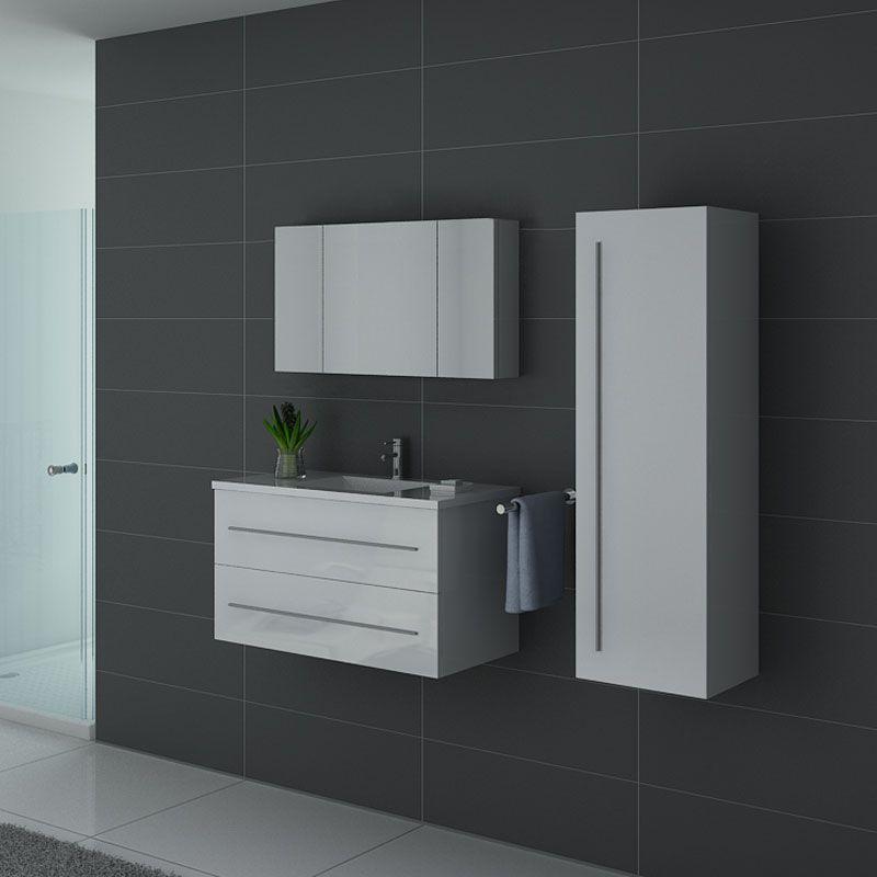 Meubles salle de bain NOVA B Blanc