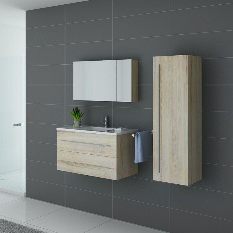 Meubles salle de bain bois scandinave NOVA SC