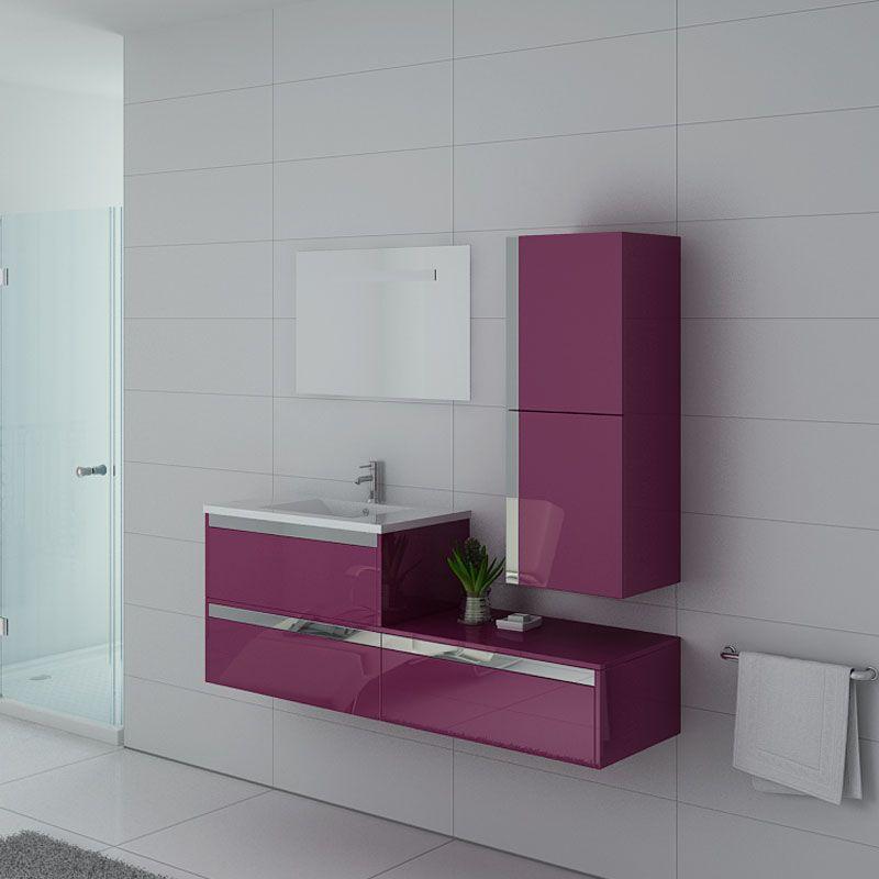 Meubles salle de bain Sublissimo Aubergine