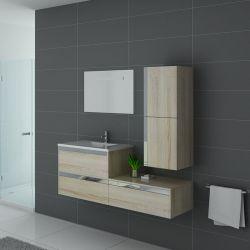 Meuble de salle de bain couleur bois scandinave Sublissimo
