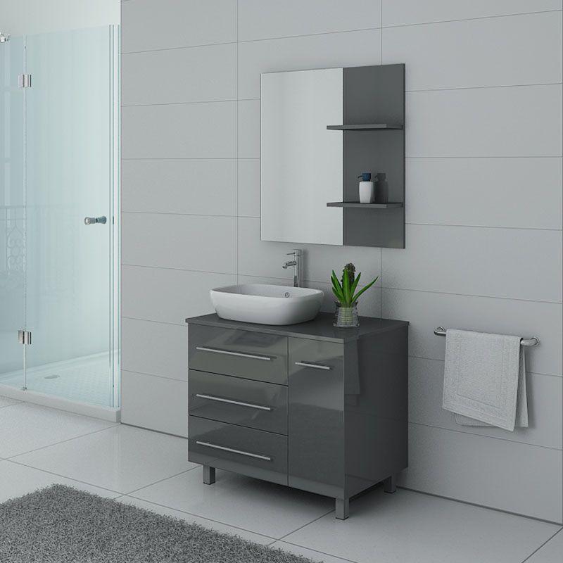 Meubles salle de bain TOSCANE Gris Taupe