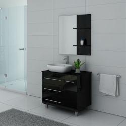 Meubles salle de bain TOSCANE Noir laqué
