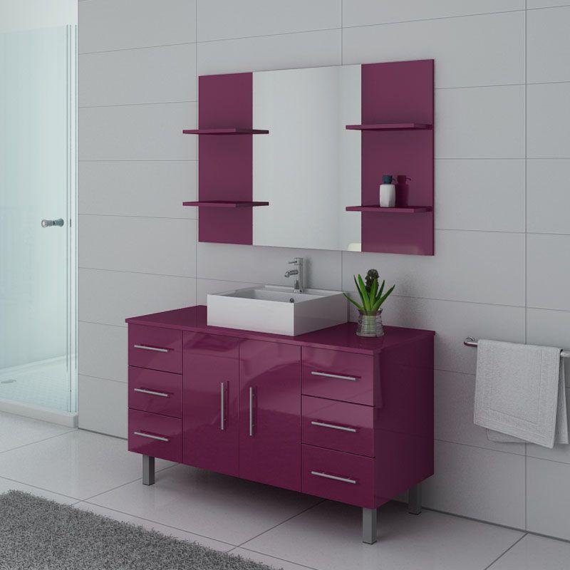 Ensemble salle de bain TURIN Aubergine