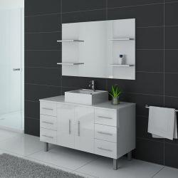 Meubles simple vasque TURIN Blanc
