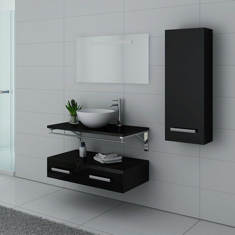 Meubles salle de bain VIRTUOSE Noir laqué
