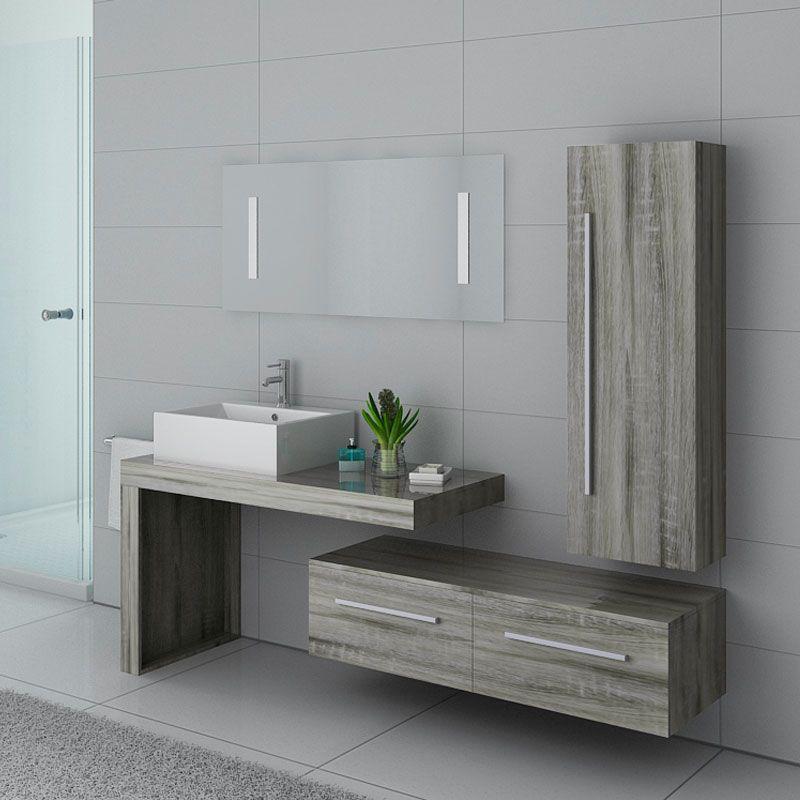 Meubles salle de bain DIS9250CG Chêne Gris